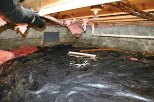 Crawl Space Repair Before in Surrey