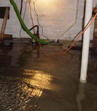 Several feet of floodwaters in a Harrison Hot Springs basement