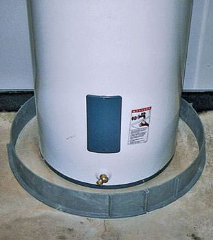 An old water heater in Agassiz, BC with flood protection installed