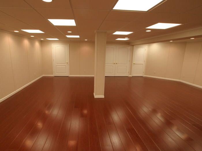 Wood Laminate Basement Floor Finishing In Surrey Vancouver Langley