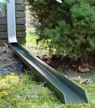 Gutter downspout extension installed in Anmore
